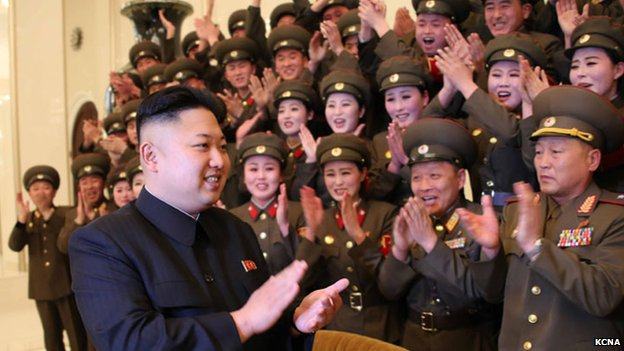 Kim Jong-un with soldiers