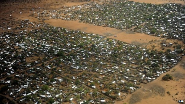 A general view of the Dadaab refugee camp