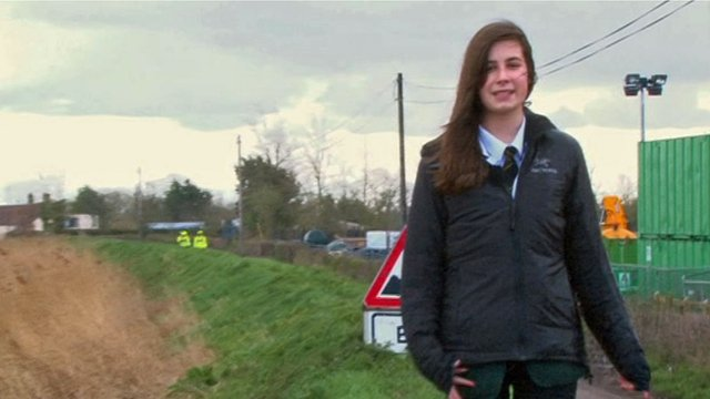 Flood devastation in Moorland, Somerset