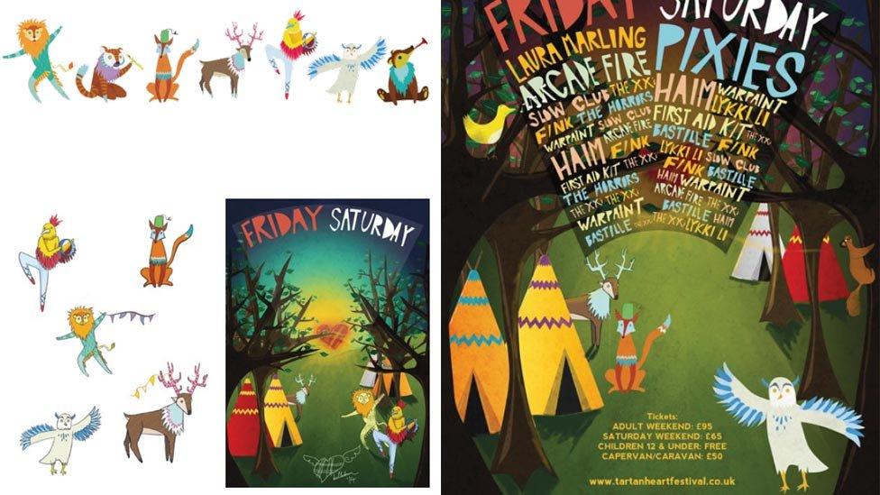 Belladrum poster illustrations