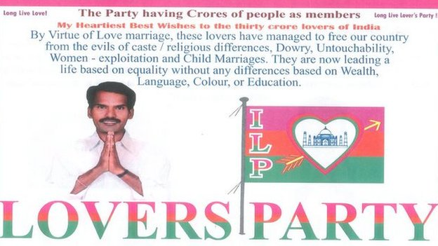 Indian Lovers Party website message