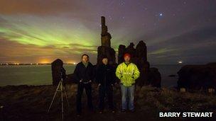 Maciej Winiarczyk, Michael Beales and Barry Stewart