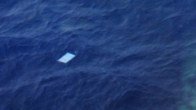 Debris seen by a New Zealand military plane