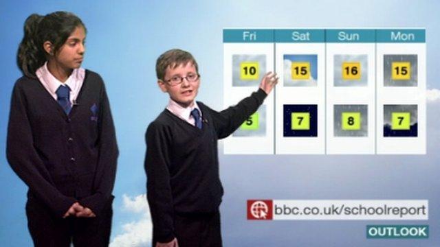 School Reporters around the UK present local weather forecasts