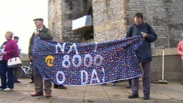 Protest Caernarfon
