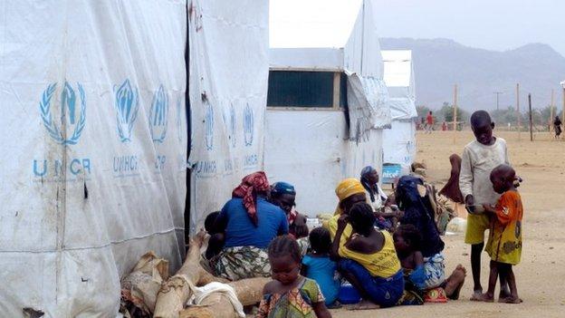 Refugee camp in Minawao
