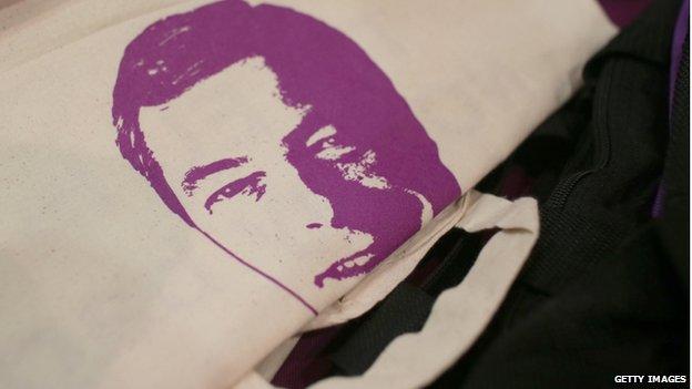 Nigel Farage bag on sale at UKIP spring conference