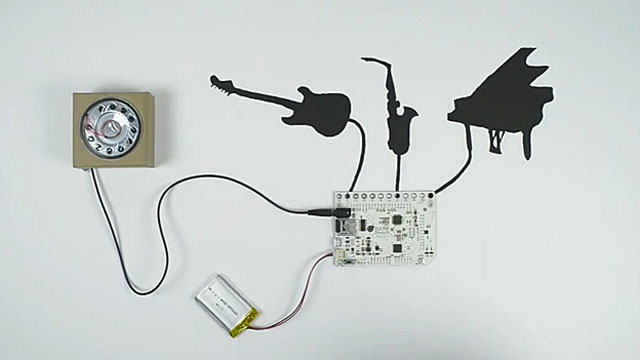 An orchestra made of conductive paint