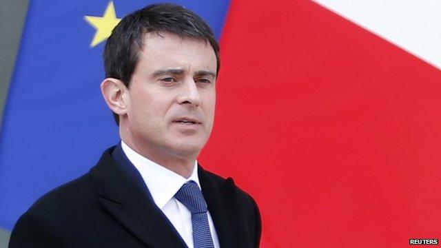 Interior Minister Manuel Valls, 26 Mar 14