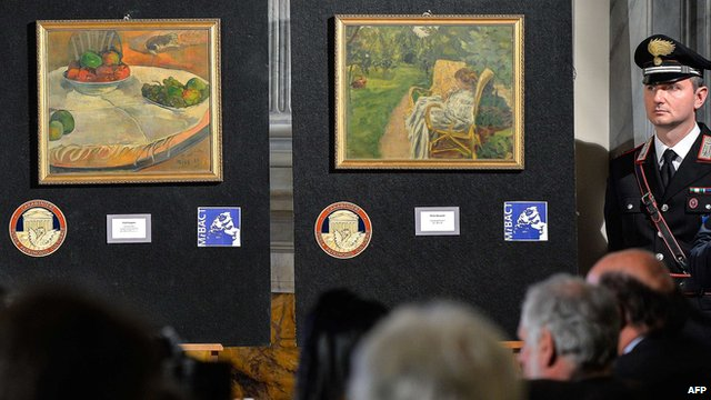 Recovered paintings