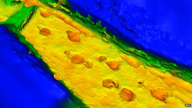 Digitally recreated dinosaur trackway (c) RVC