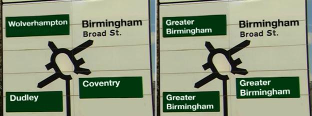 Greater Birmingham sign
