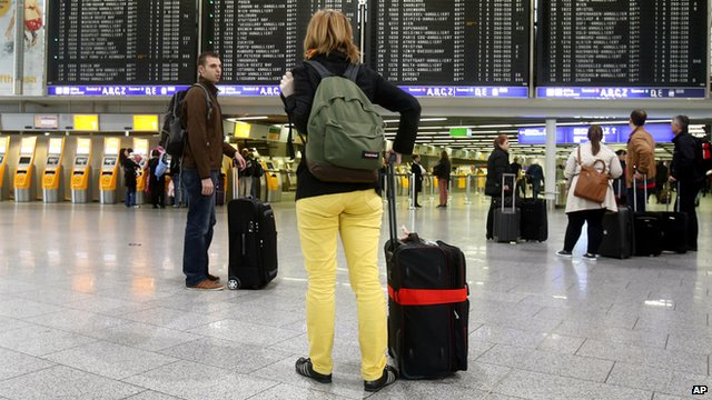 People in an airport terminal