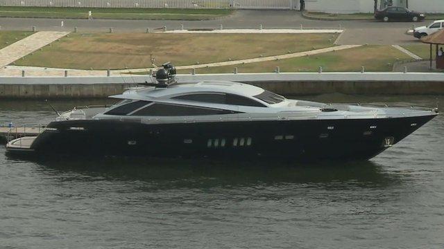 Luxury boat belonging to a Nigeria millionaire