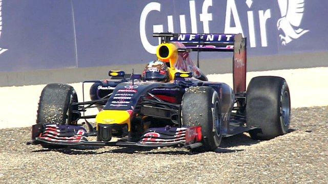 Bahrain Grand Prix: Sebastian Vettel spins off in third practice