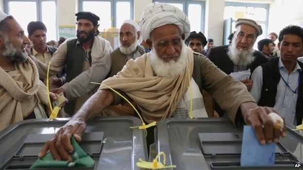 man votes