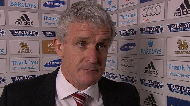 Chelsea 3-0 Stoke: Mark Hughes says Stoke made it easy for Chelsea