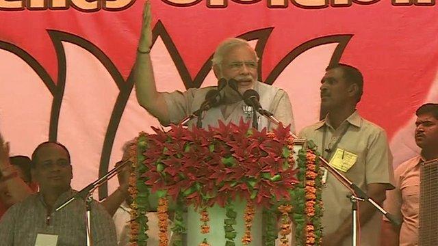 Narendra Modi at rally in Aligarh