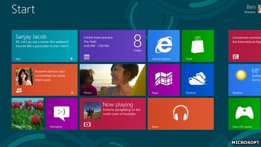 Windows 8 splash screen