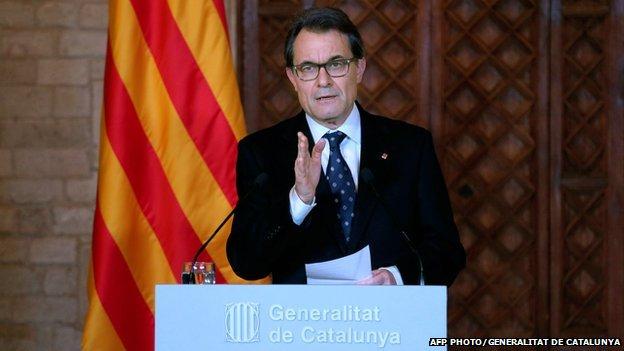 President of Catalonia's regional government Artur Mas on 8 April 2014