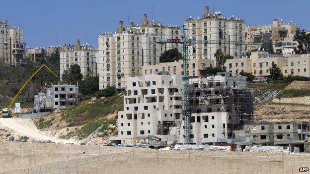 A settlement in East Jerusalem