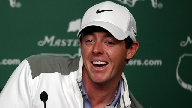 Rory McIlroy met All Blacks rugby star Dan Carter in his hotel gym on Tuesday morning