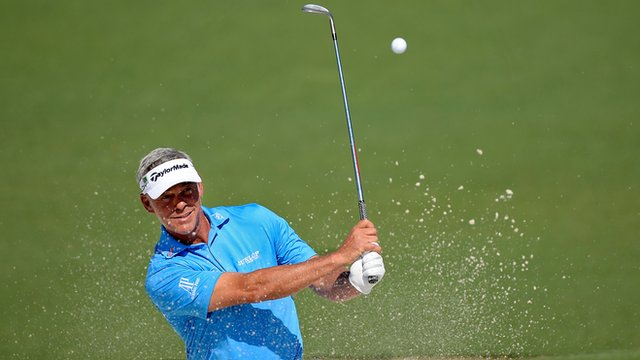 Darren Clarke in action at The Masters