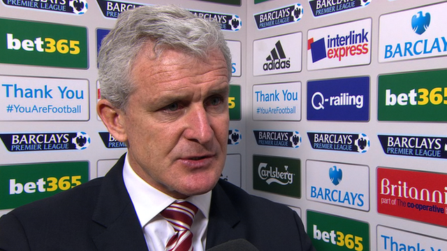 Stoke 1-0 Newcastle: Mark Hughes pleased with his 'rock solid' side