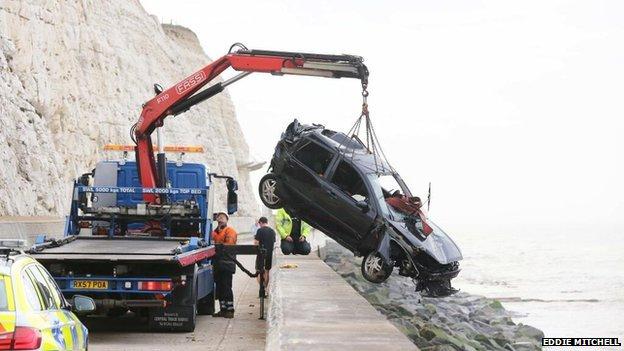 Brighton cliff fall