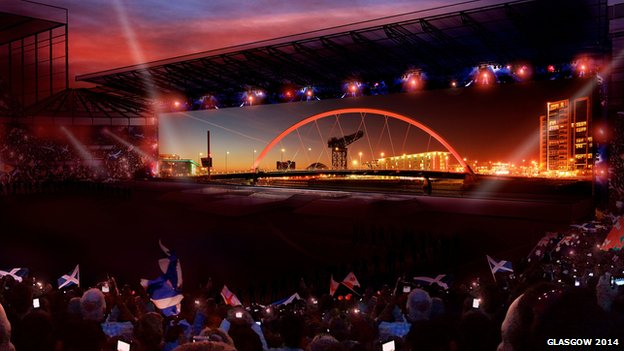 Artists impression of opening ceremony