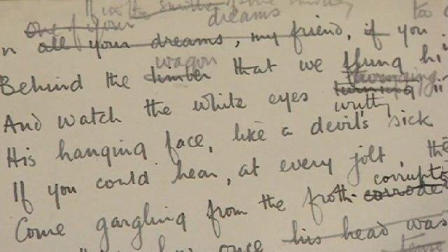 An Original Manuscript Of The World War One Poem Dulce Et Decorum Est Is One Display At Ironbridge Gorge Museum