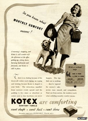 Kotex ad from 1930s