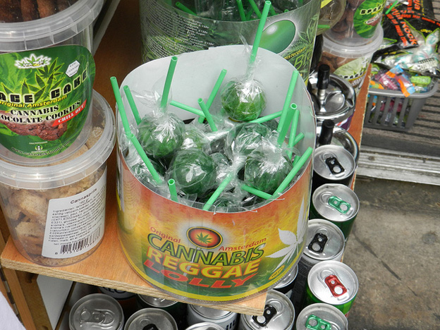 Cannabis lollies on sale in Camden, London