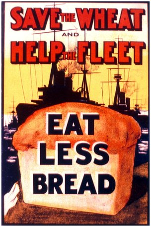 'Eat Less Bread' poster