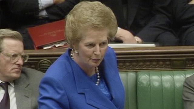 """Margaret Thatcher says """"no, no, no"""" to Europe"""