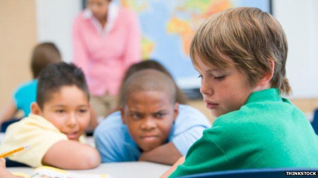 Bullied boy at school