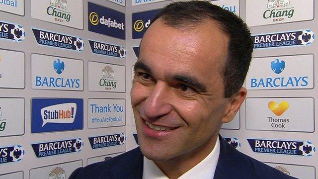 Everton manager Roberto Martinez hails historic 'double'