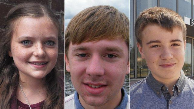 Ellie Kean, Scott Faulds and Jamie Archer