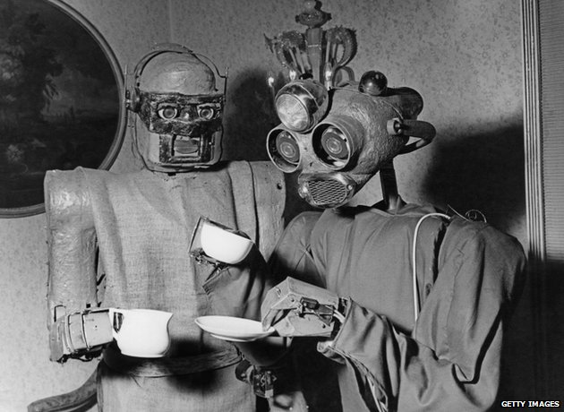 Robots drinking coffee