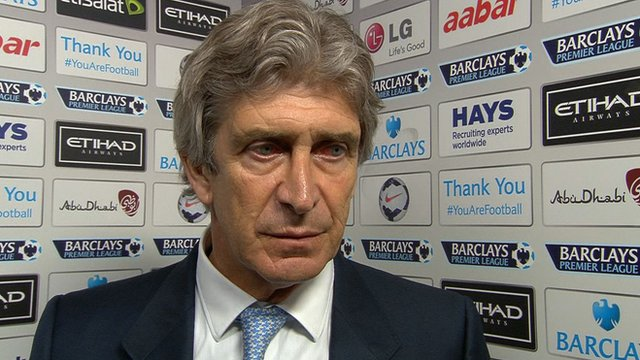 Manchester City boss Manuel Pellegrini wants to keep winning and put pressure on Premier League leaders Liverpool.