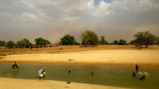 The river Komadougou Yobe