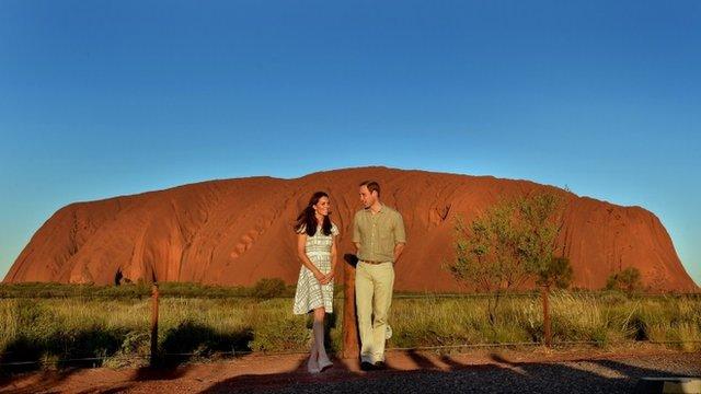 Duke and Duchess at Ayers Rock