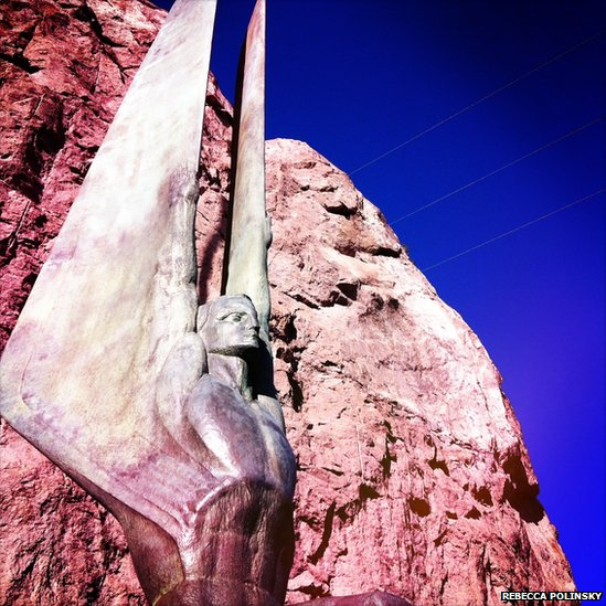 Winged figures of the Republic at Hoover Dam, Nevada