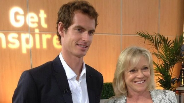 Andy Murray and Sue Barker