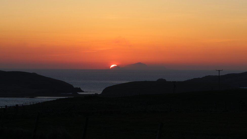Sunset over Shetland