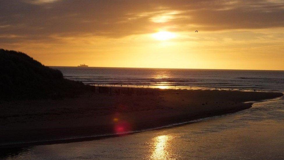 Sunrise on the River Ugie estuary in Peterhead