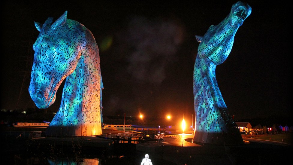 Kelpies launch in Falkirk
