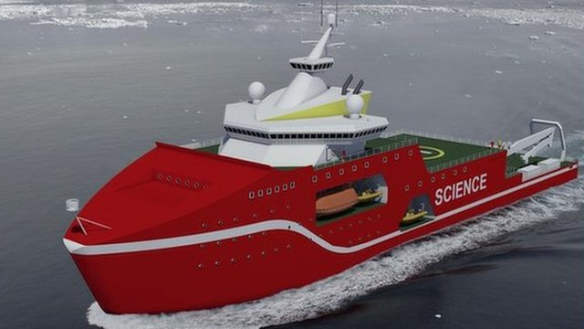 Artist's impression of new polar ship