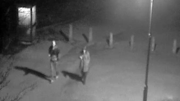 CCTV image of a man and woman in Lower Castle Park