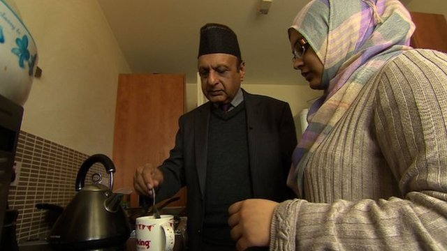 Masud Ahmad and his granddaughter
